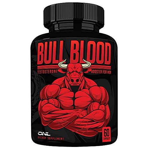Bull Blood Ultimate Testosterone Booster for Men - Male Enhancing Pills - Enlargement Supplement - High Potency Endurance, Drive, and Strength Booster