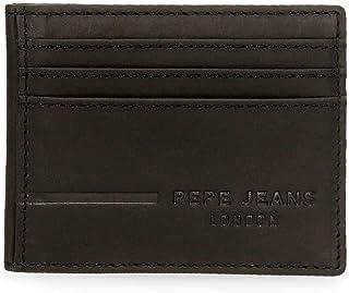 Pepe Jeans Ander Tarjetero Negro 9,5x7,5 cms Piel