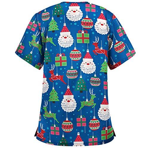 Dicomi Party Kleid 2020 Mode Damen Weihnachten Weihnachten Geschenke Druck Sweater Casual Rundhals Druck Sweater Pullover Print Rundhals T-Shirt Tops Bluse