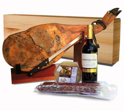 Pata Negra Schinken - Set ca. 4,5 kg mit Delikatessen und Geschenkkartonage