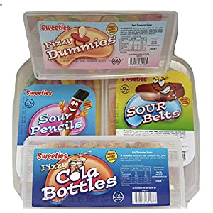 sour & fizzy gum sweets selection cola bottles, dummies, pencils, belts retro candy tubs gift for kids of all ages from kingdom supplies. Sour & Fizzy Gum Sweets Selection Cola Bottles, Dummies, Pencils, Belts Retro Candy Tubs Gift for Kids of All Ages from… 51WfKjZMkGL