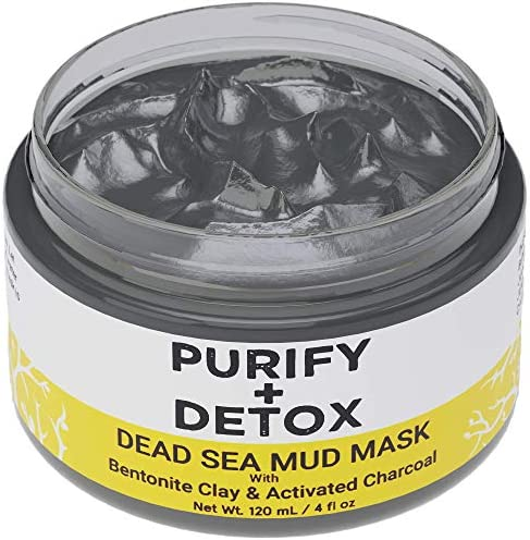 Dead Sea Mud Mask with Bentonite Clay and Activated Charcoal NO DRYING Facial Mask to Minimize product image