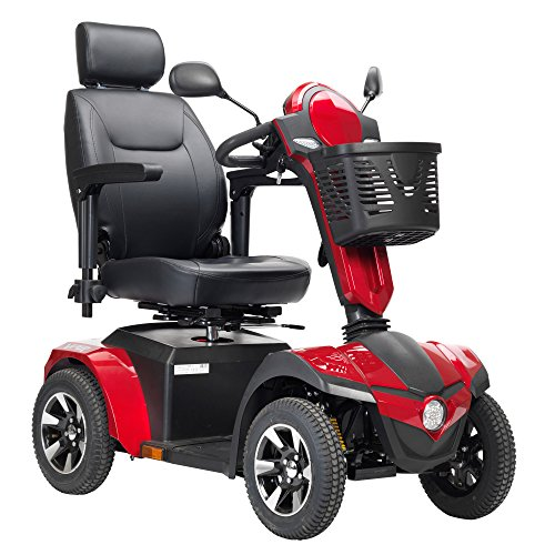 Check Out This Drive Medical Panther Captain Seat 4 Wheel Heavy Duty Scooter, Red, 22 Inch