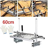 HUKOER Moulin à scie à chaîne 24 Pouces scie à chaîne Portable Mill Aluminium Acier Mig scie à broyer 14'-24' Planking Lumber Barre de Coupe