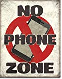 The Finest Website Inc. New No Phone Zone 16' x 12.5' (D2278) Aged Weathered Look Tin Sign