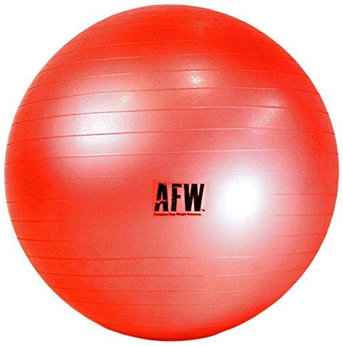 AFW 106021R 106021R-Gymball, 65 cm, Color Rojo, Talla M, Hombre, U