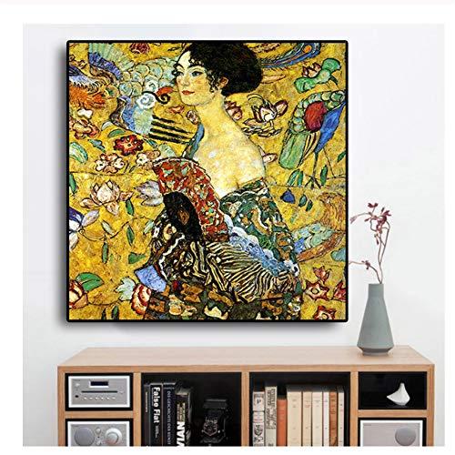 baratos y buenos Feitao Signora – Una reproducción de la pintura al óleo de Gustav Klimt en un póster de lienzo de arte pop… calidad