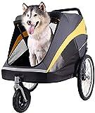 DGHJK Ampliación De Bicicletas Mascotas, Silla De Paseo Portable Práctico con Neumáticos Inflables Carretera De Enlace Camping Cesta Remolques Cochecito para El 2-3 Perros
