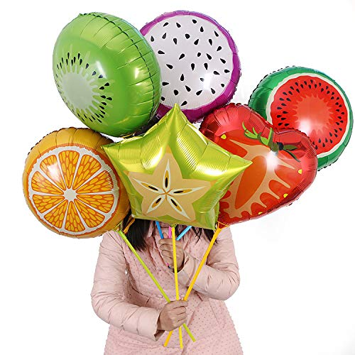 """6 pcs 18"""" Fruit Balloons Birthday Foil Balloon,Candy Color Helium Balloons,Party Wedding Supply as Gift and Toy"""