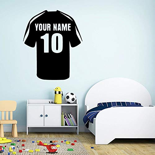Pintura numerada del dormitorio de la sala de estar del hogar del vinilo del fútbol