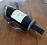 WINE RACK made with Horseshoes - choose a single bottle, 2,3 or 4 bottle