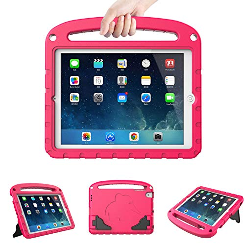 LTROP iPad Mini Case - Light Weight Shock Proof Handle Stand Kids Friendly Cover Case for Apple iPad Mini 5th 4th 3rd 2nd & 1st Generation Mini iPad Case for Kids - Pink