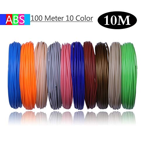 L-SHUNBAO LSB-3D Prints, 1pack 50/100/200 Medidor de 1,75 mm ABS PLA PLA Material del filamento 3D Recambio plástico Durante 3 d Pen Fuentes del Dibujo Escuela de Impresora o (Color : 2)