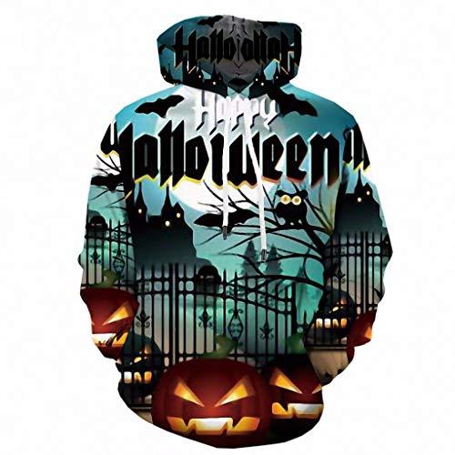 3D Print Hoodies Mens Beängstigend Wasserdichter Mantel Halloween 3D Print Mit Kapuze Party Langarm Hoodie Bluse