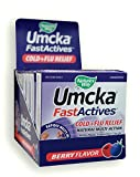 Nature's Way Umcka® FastActives® Cold + Flu Relief Multi-Action Formula Berry Flavored Powder Packets; Display Pack 6 Boxes of 10 packets each