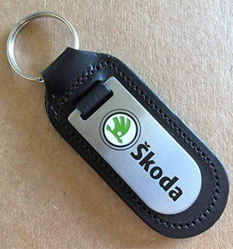 Home Guard Schlüsselring / Schlüsselanhänger Skoda, echtes Leder