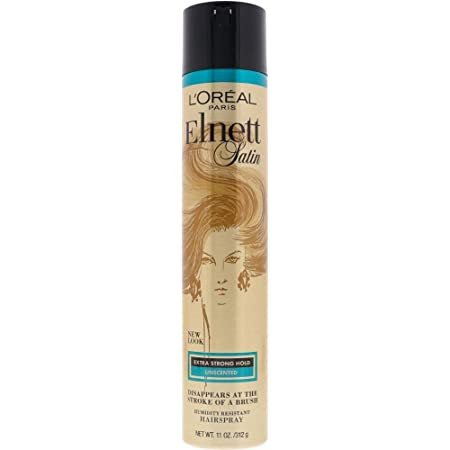 L'Oreal Paris Elnett Satin Hairspray Extra Strong Hold Unscented 11 oz; (Packaging May Vary)
