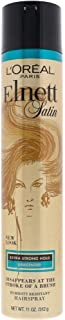 L'Oreal Paris Elnett Satin Hairspray Extra Strong Hold Unscented 11 oz (Packaging May Vary)