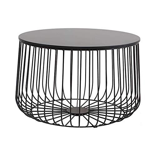 XINTONGSPP Creativa Hierro Forjado Tabla Calabaza, Personalizado Redonda Mesa de café, diseño Simple Hierro Forjado Tabla Calabaza para el hogar de la Sala, 60 * 40 Cm