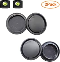 ULBTER Front Body Cap and Rear Lens Cap Cover for Sony Alpha Mount A6600 A6500 A6400 A6300 A6100 A6000 A5100 A5000 A7R IV A7R II A7R III A7R A7 III A7 II A7