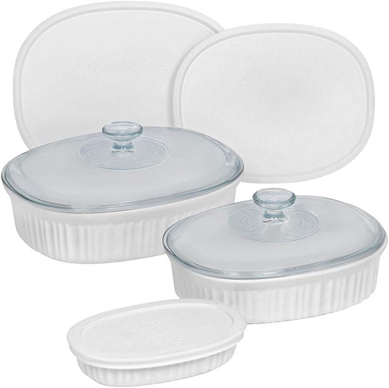 CorningWare French White 8 Piece Bakeware Set