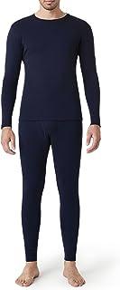 LAPASA Men's 100% Merino Wool Base Layer Set Long Sleeve, Lightweight Soft Thermal Underwear Top & Bottom (Thermoflux M31)