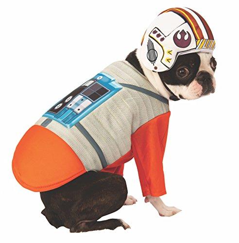 Rubies Star Wars X-Wing Disfraz de piloto para Mascota, Grande