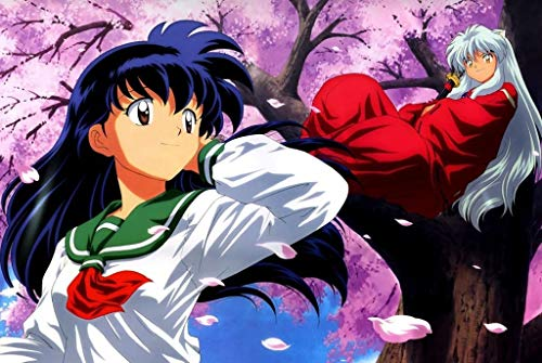 AMY-ZW Animation Comic Cartoon Puzzle Inuyasha Illustration Stills Poster Puzzles 300/500/1000 Stück Holzkiste Spielzeug for Erwachsene Kinder Mädchen Geschenke (Color : B, Size : 1000pc)