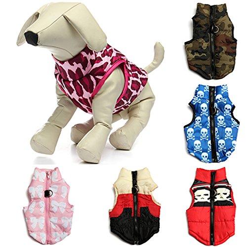Hunde Baumwolle Gefütterte Weste Kleider Mantel Jacke Kleidung Größe L -camouflage - 4