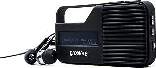 Groov-e Rio Pocket/Travel Portable DAB/FM Digital Radio with LCD Display, Torchlight, 3.5mm Headphone Input, Keyring Holde...