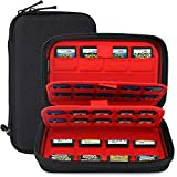 Nintendo Switch Game Case of 72 in 1Cartridges Protective and Hard Storage Carrying Organizer Holders Bag with Double Zipper for Nintendo 3DS/2DS DS microSD Memory Cards(Black)