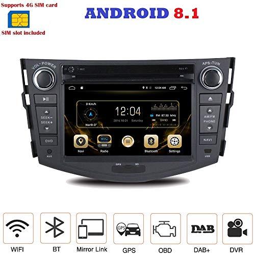 ANDROID 8.1 4G LTE GPS DVD USB SD WI-FI Bluetooth autoradio 2 DIN navigatore Toyota Rav4 2006, 2007, 2008, 2009, 2010, 2011, 2012