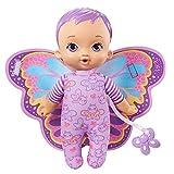 My Garden Baby Mi primer bebé mariposa morada Muñeco de juguete con manta y chupete, regalo para niñas y niños +18 meses (Mattel HBH39)
