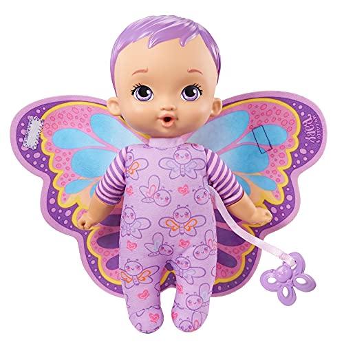 My Garden Baby HBH39 - Mein Schmuse Schmetterlings-Baby (23cm), weicher Körper mit Plüschflügeln, lila, ab 18 Monaten