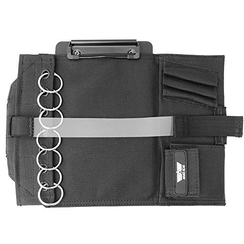 Pilot Kneeboard, Includes Clipboard, Knee Strap and 7 Rings for Attaching Approach Plates and Checklists, Pilot Accessories Aviation Knee Board