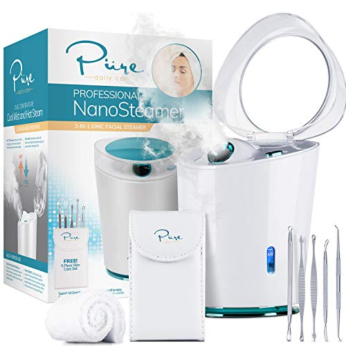 NanoSteamer PRO Professional 4-in-1 Nano Ionic Facial Steamer for Spas - 30 Min Steam Time -...