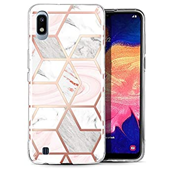 MISS ARTS Galaxy A10 Case,Galaxy M10 Case Marble for Women & Girls Ultra Slim Glossy Soft TPU Rubber Gel Protective Case Cover for Samsung Galaxy A10/M10 -Rose Gold 3
