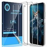 LK Schutzfolie Folie für Huawei Nova 5T, Anti-Bubble [Vollständige Abdeckung](Premium-Qualität) HD klar Flexible Bildschirmschutzfolie