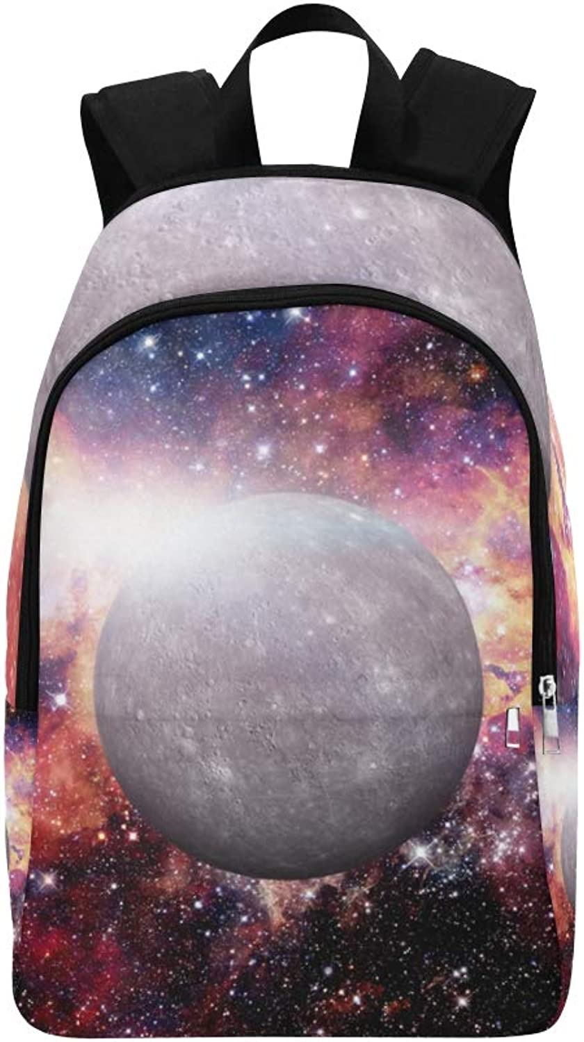 Beautiful Planets of The Solar System Casual Daypack Travel Bag College School Backpack for Mens and Women