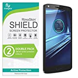 (2-Pack) RinoGear Screen Protector for Motorola Droid Turbo 2 (2015) Case Friendly Motorola Droid Turbo 2 Screen Protector Accessory Full Coverage Clear Film