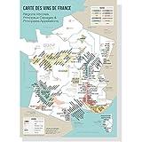 Carte des vins de France 50x70cm - vignobles français - régions viticoles - poster vintage - affiche vintage