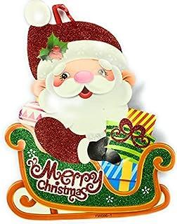 God Gift Arts Christmas Wall Stickers, Christmas Decoration Wall Stickers Santa Claus Snowflake Window Stickers Bedroom Li...