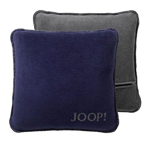 JOOP!Kussen UNI-DOUBLEFACE kussensloop Kleur Marino-leisteen Maat 50x50 cm