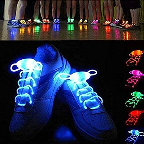 4 Pairs wasserdichte leuchtende led schnürsenkel Mode leuchten Casual Sneaker schnürsenkel Disco Party Night leuchtende Schuh Saiten (Farbe nach dem zufall)