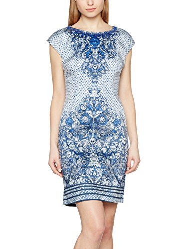 Derhy Women's Materiel Party Dress, Blue (Bleu), Large