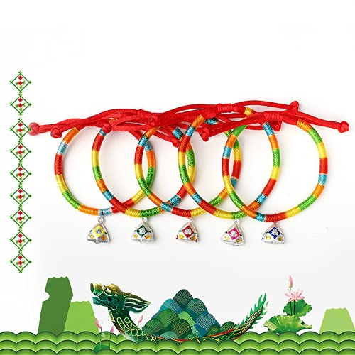 Dfngiq 5 End Dragon Boat Festival Multicolored Scorpion Hand Rope Pie Silver 999 Bendición Colgante Niños Dibujos Animados Linda Pulsera Regalo