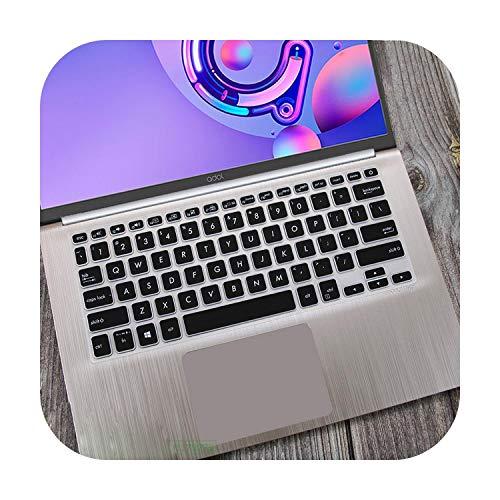 Funda protectora de silicona para teclado portátil ASUS Vivobook S14 S430UN S430FN S430F S430U S430FA S430 S 12 14 Pulgadas-Negro-
