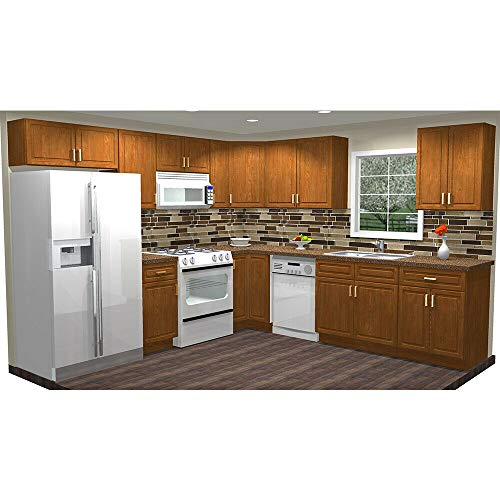 Lily Ann Cabinets 10x10 Wood Kitchen Cabinets Ready to Assemble (RTA) - Madison Toffee