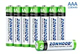 1100mAh AAA Batteries, Rechargeable AAA Batteries High-Capacity AAA Rechargeable Batteries 1.2V Ni-MH Low Self Discharge Lasting Power Recharge Battery 8PACK