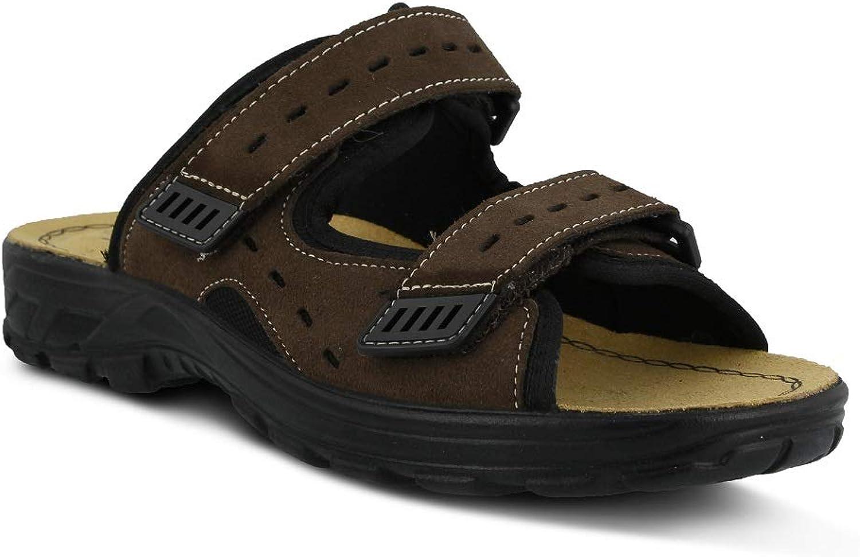 Spring Step Men Domain Sandals   color Brown Nubuck   Leather Sandals